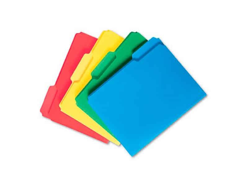Folder Plástico de aleta