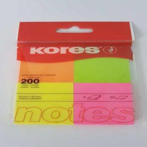 Kores notas adhesivas multicolor