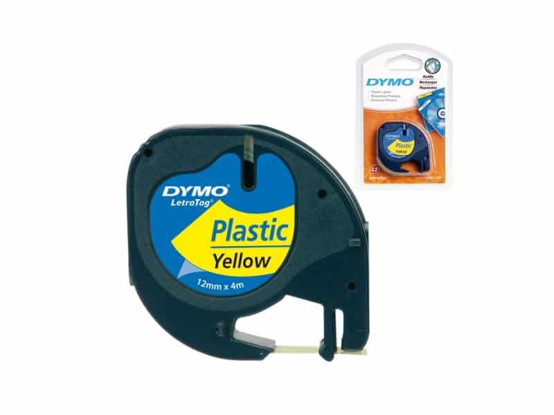 cinta plastico amarillo DYMO